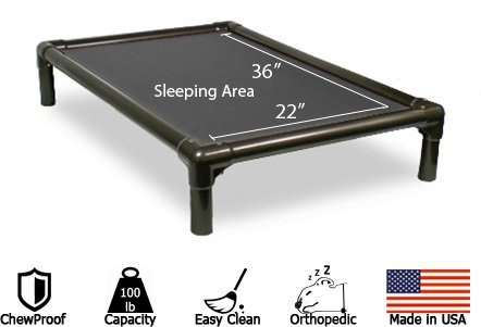 Indestructible Dog Bed Kuranda-Walnut-PVC-Chewproof-Dog-Bed-material