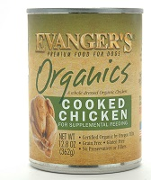Evanger's Organics Canned Grain Free Organic Cooked Chicken