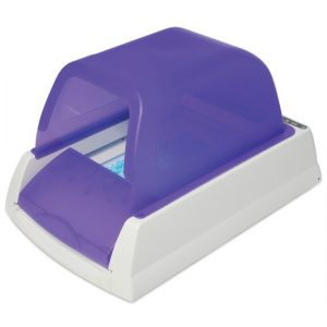 Scoopfree litter box with privacy hood