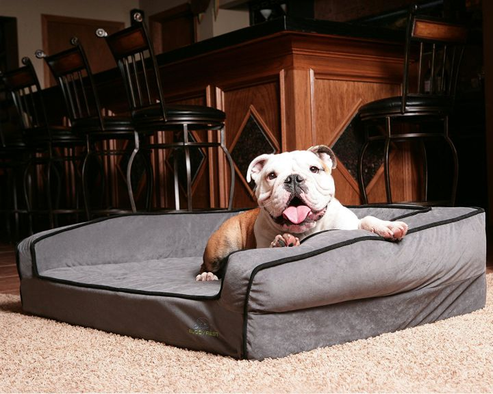 BuddyRest Crown Supreme dog bed with bolsters main