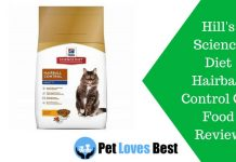 Featured Image Hill's Science Diet Hairball Control Cat Food Review