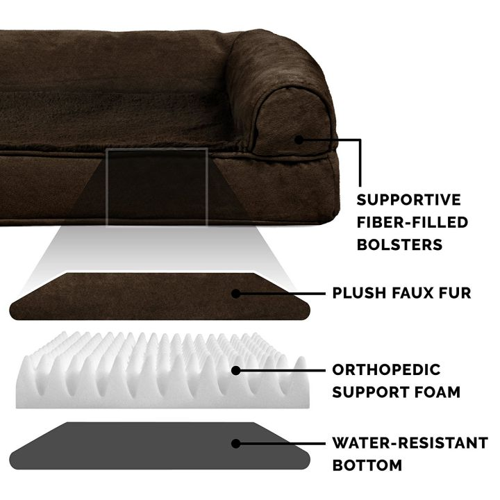 FurHaven Ultra Plush Orthopedic Couch Dog Bed design