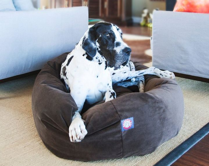 Majestic Pet Suede donut bed
