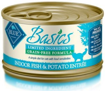 blue basics lid fish and potato canned cat food