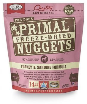 primal raw freeze dried turkey cat food
