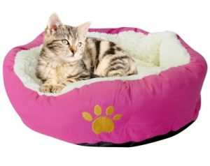 ultra soft donut cat bed