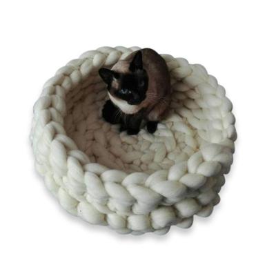HAC Pet Supplies Merino wool Crochet Cat Bed