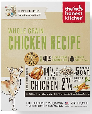 Honest Kitchen Human Grade Dehydrated Organic Grain Dog Food