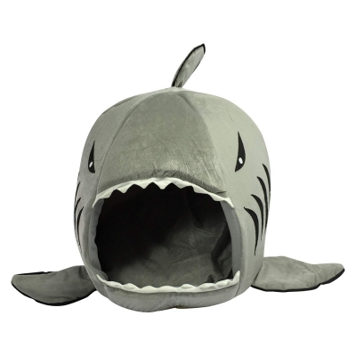 tough and durable hotelpaw shark cat bed