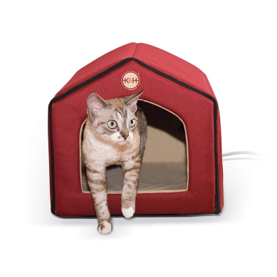 stylish heated cat bed pet house