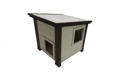 Outdoor cat house made using ecoFLEX material
