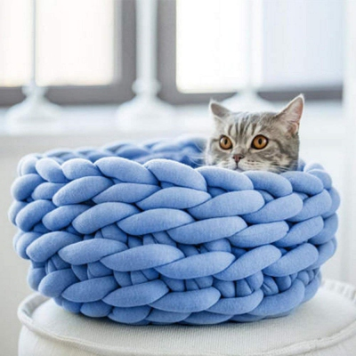 premium Crochet Cat Bed that can be machine washed