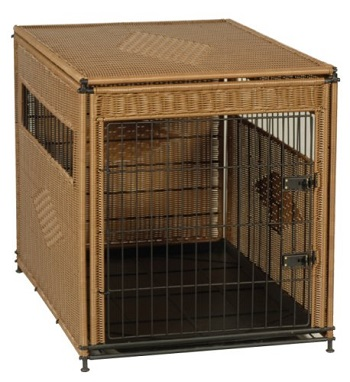 PetSafe Solvit Mr. Herzher's Indoor Wicker Crate for Dogs