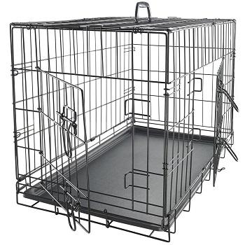 Paws & Pals Dog Crate, Double-Doors Folding Metal