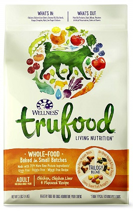 Wellness Trufood Baked Blends Natural Grain Free Dry Raw Dog Food
