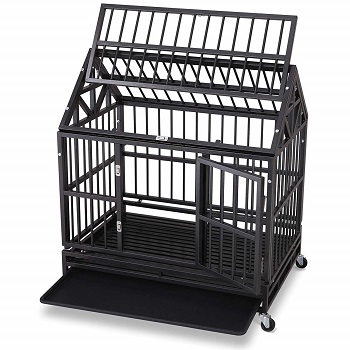 open top dog crate