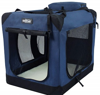 elite field large soft dog crate