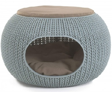 Keter Knit Cozy Luxury Lounge Pet Home with Cushions