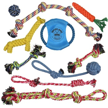 Pacific Pups Products Dog Rope Toys for Aggressive Chewers