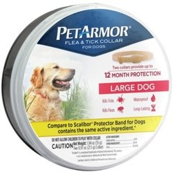 PETARMOR Premium Flea & Tick Collar for Large Dogs