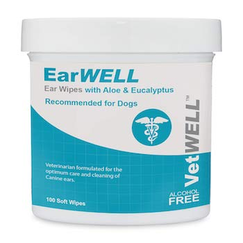 VetWELL Dog Ear Wipes for Infections and Controlling Yeast
