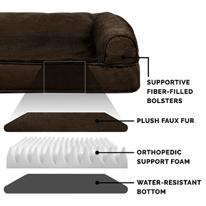 FurHaven Ultra Plush Orthopedic Couch Dog Bed