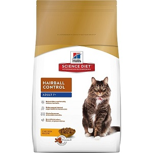 Hill's Science Diet Hairball Control Food for Adult 7+ Cat