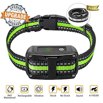 PetYeah Dog Bark Collar with Reflective Strap
