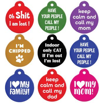 Funny Dog Tags and Cat Tags Personalized Lines