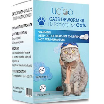 LUCICO Cat Deworming Treatment Tablets