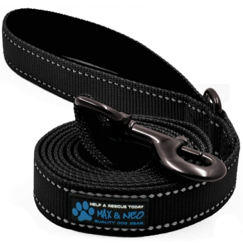 Max and Neo Reflective Nylon Dog Leash for Pulling