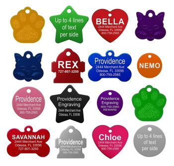 Providence Pet ID Tags 8 Lines of Engraving