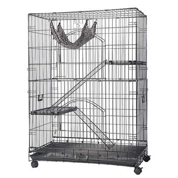Homey Pet Black Wire Cat Cage