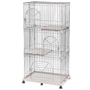 IRIS Wire Pet Cage For Cats | 3-tier
