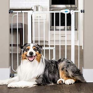 Carlson Extra Wide Walk Through Dog Gate with Small Pet Door
