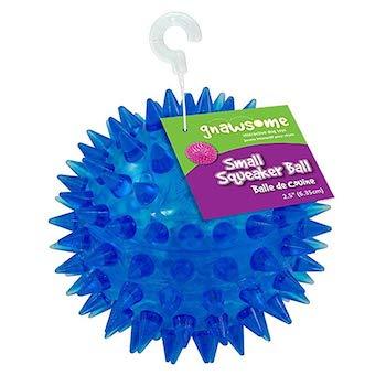 "Gnawsome 2.5"" Spiky Squeaker Dog Ball"
