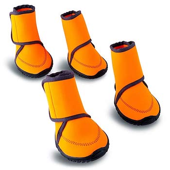 HaveGet Waterproof Dog Shoes with Adjustable Straps and Rugged Anti-Slip Sole