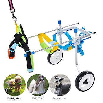 HiHydro 6 Types Cart Pet Wheelchair for Handicapped Dogs