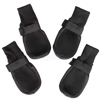 Hiado Dog Boots with Mesh Nonslip Rubber Soles for Indoors