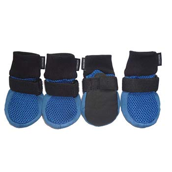 LONSUNEER Paw Protector Dog Boots with Breathable Nonslip Soft Sole