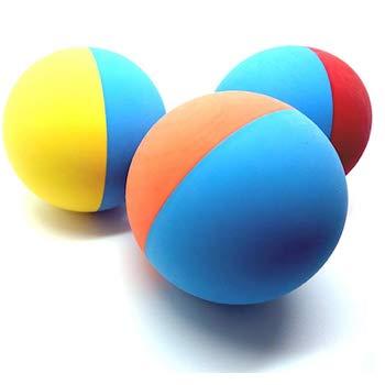 SnuG Rubber Dog Balls - Tennis Ball Size - Virtually Indestructible
