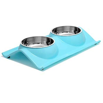UPSKY Premium Stainless Steel Double Dog Bowl