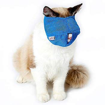 ZOOPOLR Breathable Mesh Cat Muzzle