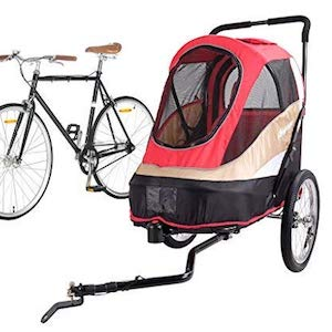 ibiyaya 2-in-1 Bicycle Trailer for Dogs