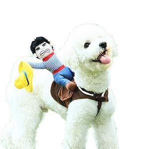 Delifur Dog Costume Cowboy Rider Style