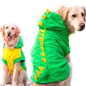 FLAdorepet Dinosaur Halloween Costume for Golden Retriever