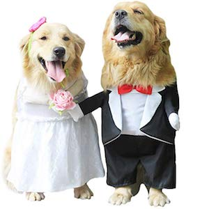 FLAdorepet Dog Wedding Tuxedo Dress