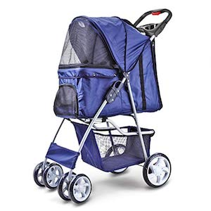 Flexzion 4 Wheels Small Dog Stroller