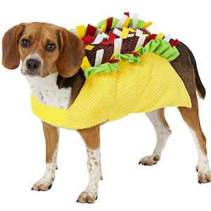 Taco Costume for Dog