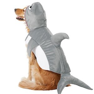 White Shark Dog Costume